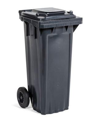 Soptunna av plast, BxDxH 514x448x932 mm, grå, volym 80 l