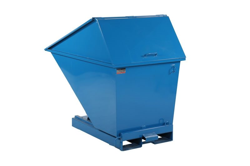 Tippcontainer med högt lock 750 L, 1525x880x1295 mm, blå