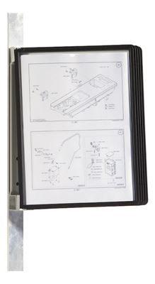 Väggställ VARIO® Magnet inkl 5 paneler, svarta
