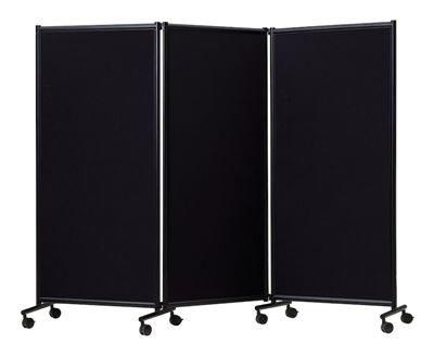 Utställningsskärm One 1705x2280 mm, 3-delad. Svart/Svart