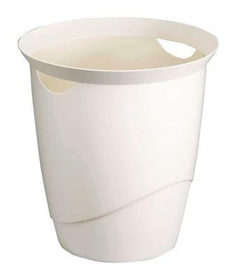 Papperskorg Trend 16-liter, vit