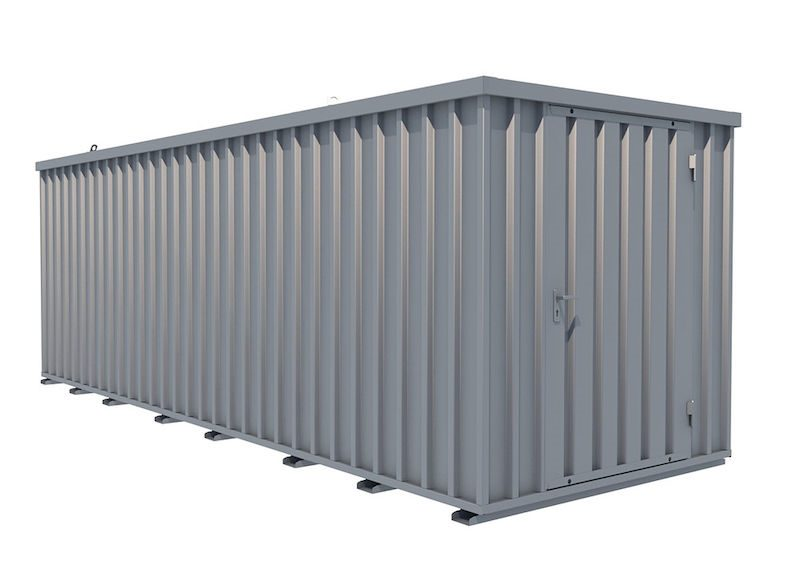 Förrådscontainer Totak, trägolv, BxDxH 2100x6100x2100 mm