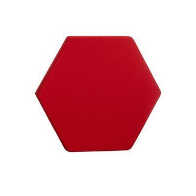 Ljudabsorbent Hexagon, 700x700 x50 mm, Röd