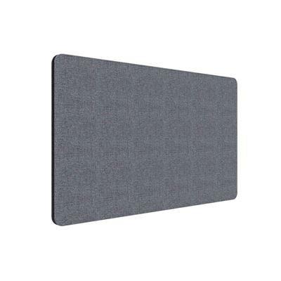 Edge  bordsskärm 1800x700 mm, frontmonterad, grå, svart