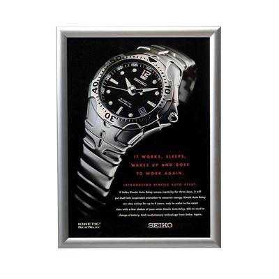 Affischram för vägg med snäppram, 1400x1000 mm, svart