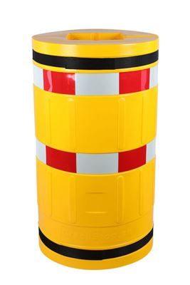 Pelarskydd Ellen för pelare och stolpar, 210x210mm, H 1100mm, ø620 mm